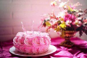 geburtstagswünsche mit kerzen und torte